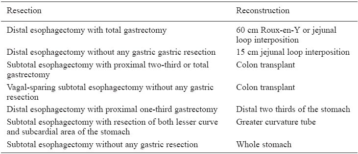 What Are The Means Of Esophagogastric Resection And